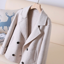 Out of season clear! Cost-effective to death! 70% wool coat ~autumn and winter plaid coat