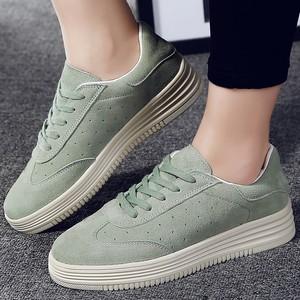 秋春<span class=H>鞋子</span>女士真皮板鞋女浅绿色韩版小白鞋平底鞋女秋春穿的女士鞋
