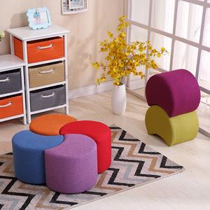 实木<span class=H>矮凳</span>布艺换鞋凳客厅沙发凳时尚茶几凳创意小板凳家用小凳子