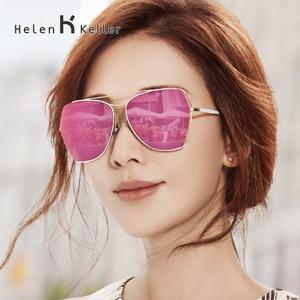 海伦凯勒<span class=H>太阳</span>镜女潮2018明星款 偏光镜墨镜女大框开车<span class=H>眼镜</span>H8618