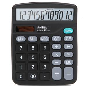 得力<span class=H>计算器</span> 学生财务会计12位多功能电脑按键 语音大按键计算机