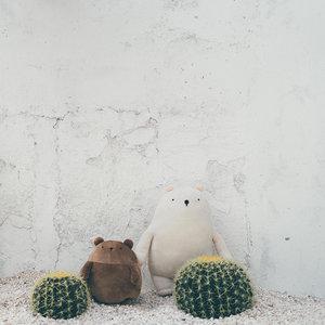 卡夫卡全新版白熊土豆熊 <span class=H>公仔</span>抱枕儿童毛绒玩具玩偶日本进口面料