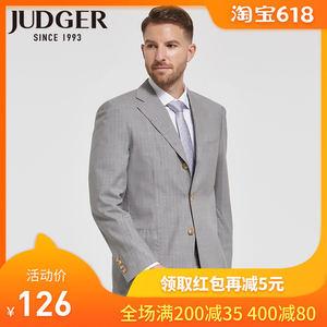 JUDGER庄吉西服套装男两件套 98.4%高含量羊毛西装外套