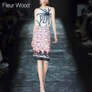 无袖上衣夏季半身裙名媛洋气显瘦气质套装女<span class=H>时尚</span>两件套2018新款