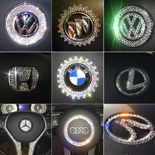 DIY Crystal Sticker scratch water drill sticker decorative car sticker steering wheel inside and outside car label sticker