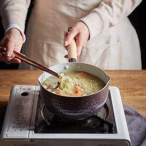 日式雪平锅日本泡面小奶锅不粘锅电磁炉锅辅食锅牛奶小锅煮锅汤锅