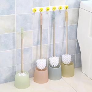 创意新款不锈钢马桶刷 清洁刷<span class=H>居家</span><span class=H>日用</span>清洁用具带底座可悬挂浴室.