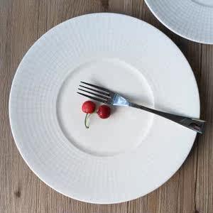 创意盘子陶瓷纯色<span class=H>圆盘</span>酒店西餐具大号西餐盘牛排盘陶瓷平盘