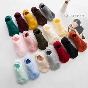 春秋薄船袜女可爱纯棉黑色浅口短袜低帮韩版袜子学院风夏季隐形袜