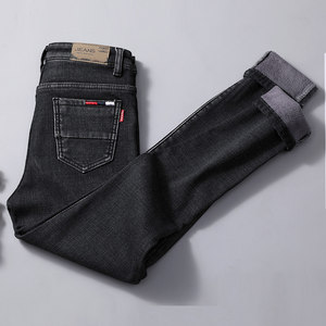 加绒<span class=H>牛仔裤</span>女高腰2018新款紧身韩版加厚保暖显瘦网红加棉小脚裤子