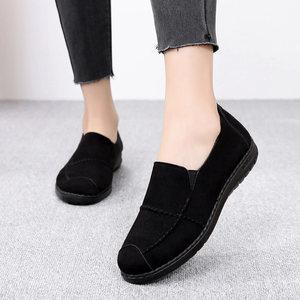 老北京布鞋女鞋舒适轻便妈妈鞋防滑软底休闲鞋平底时尚一脚蹬<span class=H>单鞋</span>