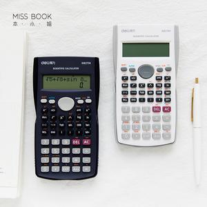 本小姐 得力函数<span class=H>计算器</span>学生多功能大屏双行显示器学生会计<span class=H>计算器</span>Q