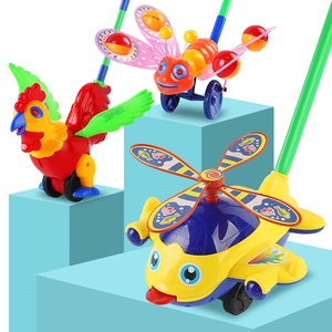 婴儿单杆学步手推车儿童推推乐多功能飞机宝宝学走路<span class=H>玩具</span>新年礼物