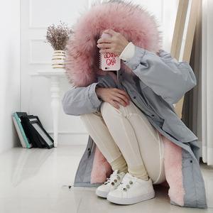 棉服女冬季工装韩版清仓大衣中长款外套宽松bf加厚大毛领反季<span class=H>棉衣</span>