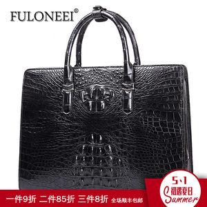 fuloneei新款鳄鱼皮手提包密码锁<span class=H>男包</span>商务公文包时尚真皮男士包