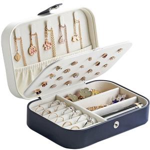 便携式首饰盒手饰品<span class=H>收纳盒</span>小号大容量耳钉耳环珠宝戒指盒整理盒女