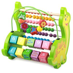 大号<span class=H>绕珠</span>敲琴<span class=H>计算架</span>婴幼儿宝宝<span class=H>绕珠</span>串珠积木益智早教玩具1-2-3岁