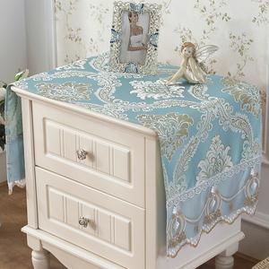 欧式床头柜盖布布艺卧室电视机柜防尘罩桌布蕾丝鞋柜布<span class=H>盖巾</span>长方形