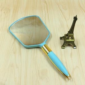 手拿镜子美容院高清手持<span class=H>化妆镜</span>大号 纹绣圆形小镜子居家旅行可带