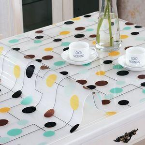 方桌软玻璃新品茶几垫防滑<span class=H>地毯</span>塑料客厅家用水晶板现代简约饭桌