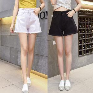 2017夏季新款女式个性毛边仔<span class=H>短裤</span>女士学生修身热裤韩版潮流女装
