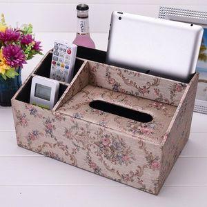 易清洁餐巾纸<span class=H>盒</span>办公卧室<span class=H>多</span><span class=H>用途</span>耐用皮革分格<span class=H>纸巾</span><span class=H>盒</span> 客厅茶几方便