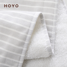 HOYO Japanese plain yarn towel class A pure cotton household 1 washcloth baby water-absorbent cleansing towel