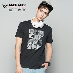 NORTHLAND诺诗兰速干短袖T恤男春夏季新款户外运动透气快干衣服女