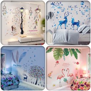 创意床头贴纸网红壁纸背景<span class=H>墙贴</span>画卧室房间装饰品墙面温馨墙纸自粘