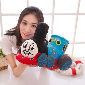 创意可爱的托马斯小火车卡通毛绒<span class=H>公仔</span>玩具儿童节日礼物