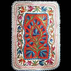 印度克什米尔进口羊毛毡毯手工刺绣地毯异域超大地垫小<span class=H>毯子</span>进门垫