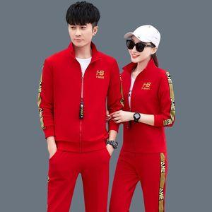 秋季20-30-40岁中年轻运动服时尚休闲情侣男女两件套装爬山旅游ql