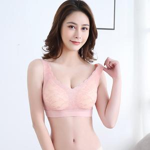 紫速升级版泰国乳胶内衣女聚拢无钢圈防震跑步运动文胸背心胸罩