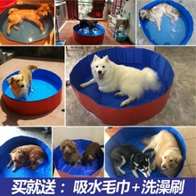 Bath Pool Products Other Bath Pots Foldable Teddy Golden Hair Alaska Pet Bath Dog Products