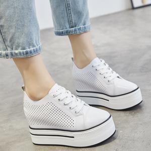 韩版时尚新款休闲鞋 内增高10CM厚底鞋 学生<span class=H>女鞋</span>子 小码鞋