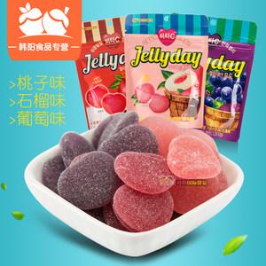 韩国进口食品好丽友VC软糖49g心形<span class=H>水果</span>味QQ糖明星同款休闲零食