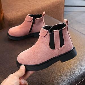 女鞋春夏款小公主小孩子春夏季时尚小童洋气<span class=H>靴子</span>女童带跟短靴1