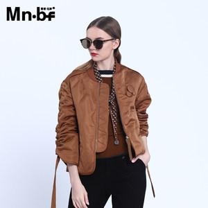 曼诺比菲 mnbf冬季新款时尚百搭修身显瘦简约<span class=H>英伦</span><span class=H>风</span>短款棉衣外套