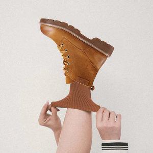 高蒂女鞋正品2018冬季新款马丁靴女高帮机车短靴英伦短筒真皮靴子