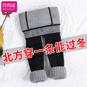 女童打底裤2018新款冬季黑色保暖中大童外穿儿童装棉加绒加厚<span class=H>裤子</span>