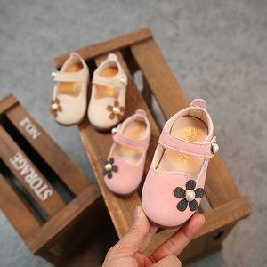 2018春季新款童鞋韩版女童儿童宝宝<span class=H>单鞋</span>花朵小中童时尚软底平底鞋