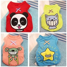 Dog clothes, small dogs, pets, cartoon vest, cats and dogs are generally free of domestic freight compared with Xiong Teddy VIP in spring and summer