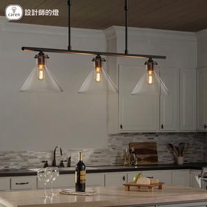设计师的灯欧式现代简约艺术个性餐厅创意吧台单头吊灯水晶漏斗灯