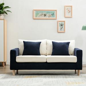 北欧简约布艺拆洗双人小<span class=H>沙发</span>咖啡服装店公寓办公小户型三人<span class=H>沙发</span>