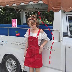李雨薇 法式<span class=H>背带裙</span>夏季新款韩版修身a字型少女粉色连衣裙女小清新
