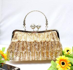 时尚潮流新品女包 纯色手工<span class=H>铝片</span>晚宴包派对婚礼包手拿手提包手包