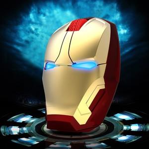 钢铁侠个性无线<span class=H>鼠标</span>时尚炫酷游戏发光台式电脑笔记本滑鼠包邮