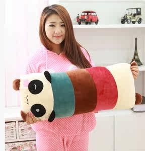 可爱卡通熊猫抱枕毛绒玩具<span class=H>布娃娃</span>公仔午睡双人枕送女生礼物可拆洗