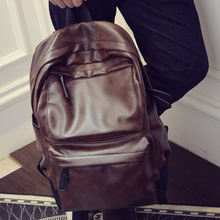 Tide man running away from home bag Korean version of fashionable PU leather bag