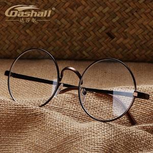 领10元券购买复古眼镜男女款防辐射眼镜潮韩版圆框近视眼镜架男全框金属平光镜